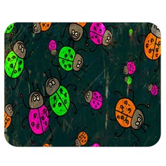 Cartoon Grunge Beetle Wallpaper Background Double Sided Flano Blanket (medium)  by Nexatart