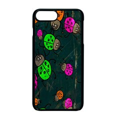 Cartoon Grunge Beetle Wallpaper Background Apple Iphone 7 Plus Seamless Case (black)