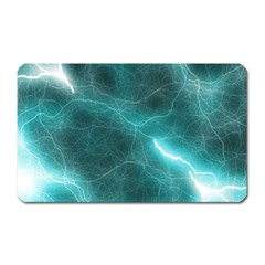 Light Web Colorful Web Of Crazy Lightening Magnet (rectangular) by Nexatart