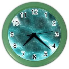 Light Web Colorful Web Of Crazy Lightening Color Wall Clocks by Nexatart