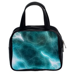 Light Web Colorful Web Of Crazy Lightening Classic Handbags (2 Sides) by Nexatart