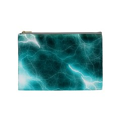 Light Web Colorful Web Of Crazy Lightening Cosmetic Bag (medium)  by Nexatart