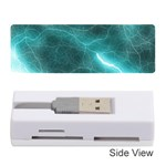 Light Web Colorful Web Of Crazy Lightening Memory Card Reader (Stick)  Front