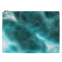 Light Web Colorful Web Of Crazy Lightening Cosmetic Bag (xxl)  by Nexatart