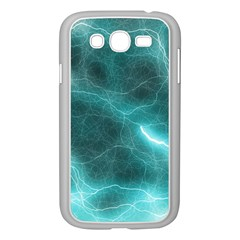 Light Web Colorful Web Of Crazy Lightening Samsung Galaxy Grand Duos I9082 Case (white) by Nexatart