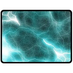 Light Web Colorful Web Of Crazy Lightening Double Sided Fleece Blanket (large)  by Nexatart