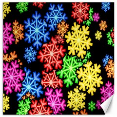 Colourful Snowflake Wallpaper Pattern Canvas 16  X 16   by Nexatart