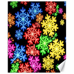 Colourful Snowflake Wallpaper Pattern Canvas 16  X 20