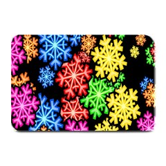 Colourful Snowflake Wallpaper Pattern Plate Mats by Nexatart