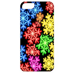 Colourful Snowflake Wallpaper Pattern Apple Iphone 5 Classic Hardshell Case by Nexatart