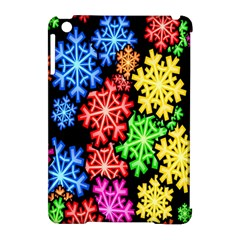 Colourful Snowflake Wallpaper Pattern Apple Ipad Mini Hardshell Case (compatible With Smart Cover) by Nexatart