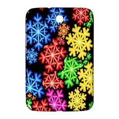Colourful Snowflake Wallpaper Pattern Samsung Galaxy Note 8 0 N5100 Hardshell Case  by Nexatart