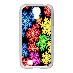 Colourful Snowflake Wallpaper Pattern Samsung Galaxy S4 I9500/ I9505 Case (white)