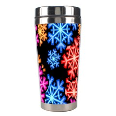 Colourful Snowflake Wallpaper Pattern Stainless Steel Travel Tumblers by Nexatart