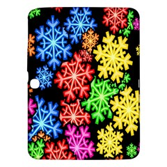 Colourful Snowflake Wallpaper Pattern Samsung Galaxy Tab 3 (10 1 ) P5200 Hardshell Case  by Nexatart