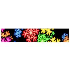 Colourful Snowflake Wallpaper Pattern Flano Scarf (small)