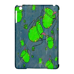 Cartoon Grunge Frog Wallpaper Background Apple Ipad Mini Hardshell Case (compatible With Smart Cover) by Nexatart