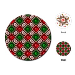 Gem Texture A Completely Seamless Tile Able Background Design Playing Cards (round)  by Nexatart