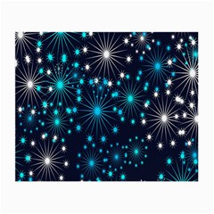 Digitally Created Snowflake Pattern Background Small Glasses Cloth (2-side) by Nexatart