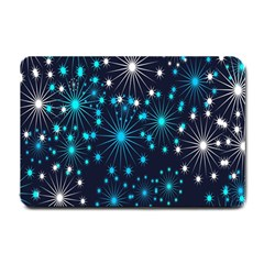 Digitally Created Snowflake Pattern Background Small Doormat  by Nexatart