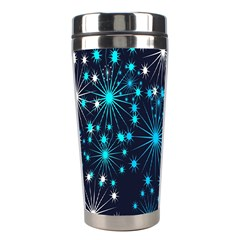 Digitally Created Snowflake Pattern Background Stainless Steel Travel Tumblers