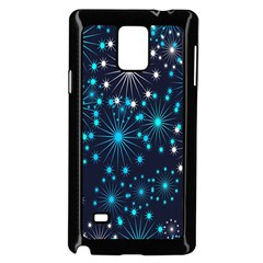 Digitally Created Snowflake Pattern Background Samsung Galaxy Note 4 Case (black)