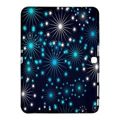 Digitally Created Snowflake Pattern Background Samsung Galaxy Tab 4 (10 1 ) Hardshell Case