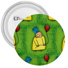 Party Kid A Completely Seamless Tile Able Design 3  Buttons by Nexatart
