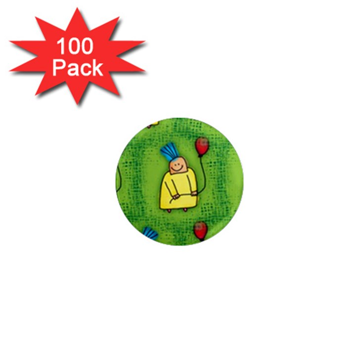 Party Kid A Completely Seamless Tile Able Design 1  Mini Magnets (100 pack)