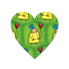 Party Kid A Completely Seamless Tile Able Design Heart Magnet by Nexatart