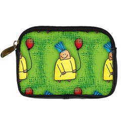 Party Kid A Completely Seamless Tile Able Design Digital Camera Cases by Nexatart