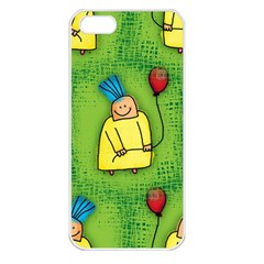 Party Kid A Completely Seamless Tile Able Design Apple Iphone 5 Seamless Case (white) by Nexatart