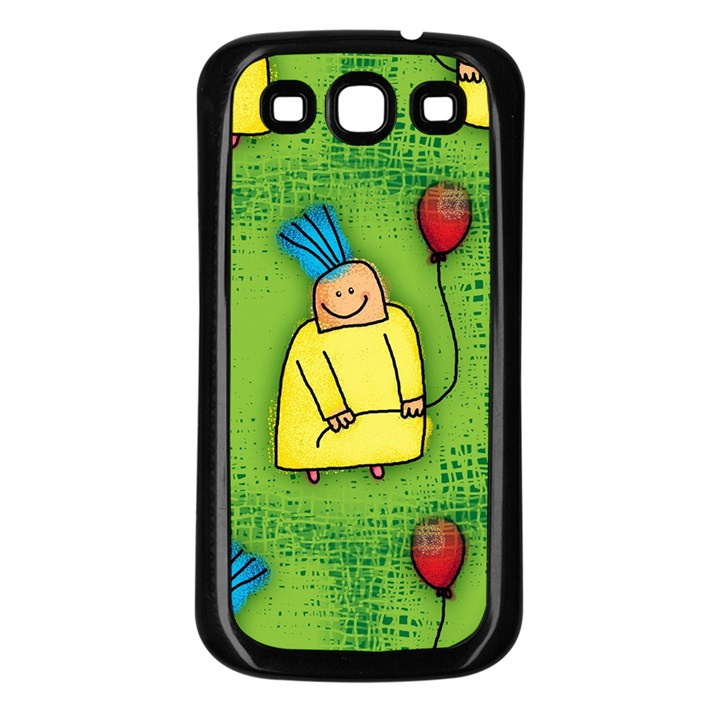 Party Kid A Completely Seamless Tile Able Design Samsung Galaxy S3 Back Case (Black)