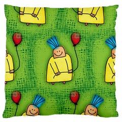Party Kid A Completely Seamless Tile Able Design Large Flano Cushion Case (one Side) by Nexatart