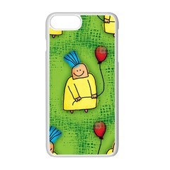 Party Kid A Completely Seamless Tile Able Design Apple Iphone 7 Plus White Seamless Case by Nexatart