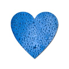 Water Drops On Car Heart Magnet by Nexatart