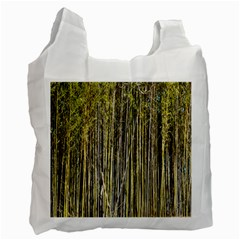 Bamboo Trees Background Recycle Bag (one Side) by Nexatart