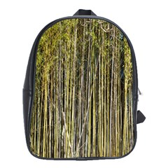 Bamboo Trees Background School Bags(large)  by Nexatart