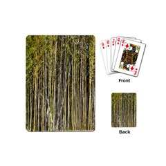 Bamboo Trees Background Playing Cards (mini)  by Nexatart