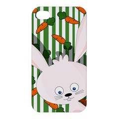 Easter Bunny  Apple Iphone 4/4s Premium Hardshell Case by Valentinaart