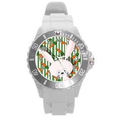 Easter Bunny  Round Plastic Sport Watch (l) by Valentinaart