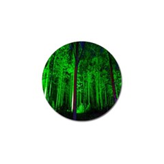 Spooky Forest With Illuminated Trees Golf Ball Marker (4 Pack) by Nexatart
