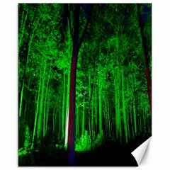 Spooky Forest With Illuminated Trees Canvas 16  X 20   by Nexatart