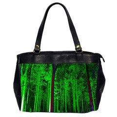 Spooky Forest With Illuminated Trees Office Handbags (2 Sides)  by Nexatart