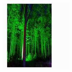 Spooky Forest With Illuminated Trees Large Garden Flag (two Sides)