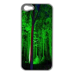 Spooky Forest With Illuminated Trees Apple Iphone 5 Case (silver)