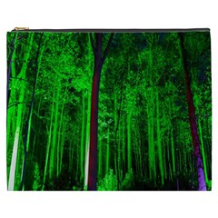 Spooky Forest With Illuminated Trees Cosmetic Bag (xxxl)  by Nexatart