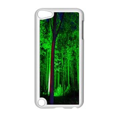 Spooky Forest With Illuminated Trees Apple Ipod Touch 5 Case (white) by Nexatart
