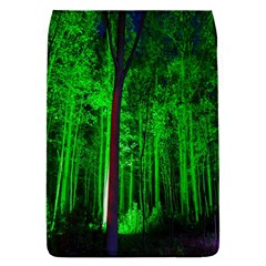 Spooky Forest With Illuminated Trees Flap Covers (l)  by Nexatart