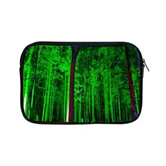 Spooky Forest With Illuminated Trees Apple Ipad Mini Zipper Cases by Nexatart